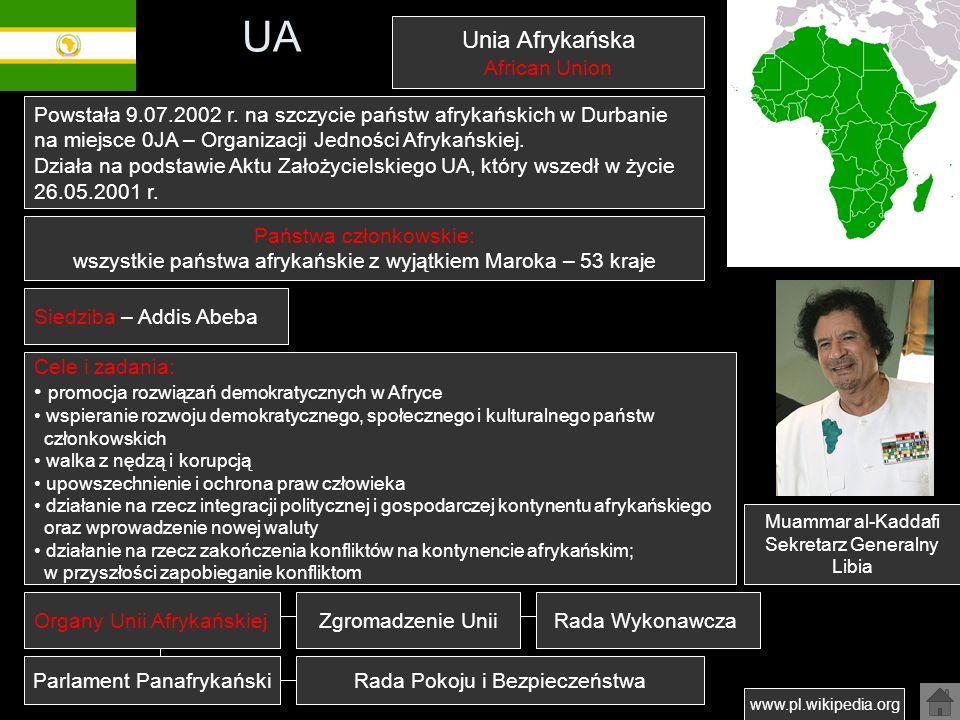 UA Unia Afrykańska African Union