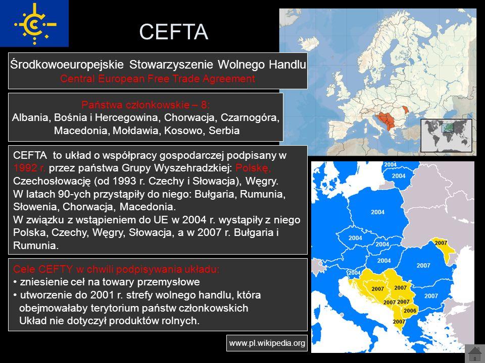 CEFTA Środkowoeuropejskie Stowarzyszenie Wolnego Handlu