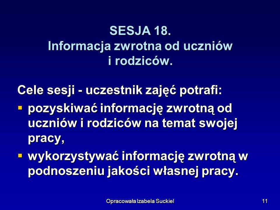 SESJA 18. Informacja zwrotna od uczniów i rodziców.