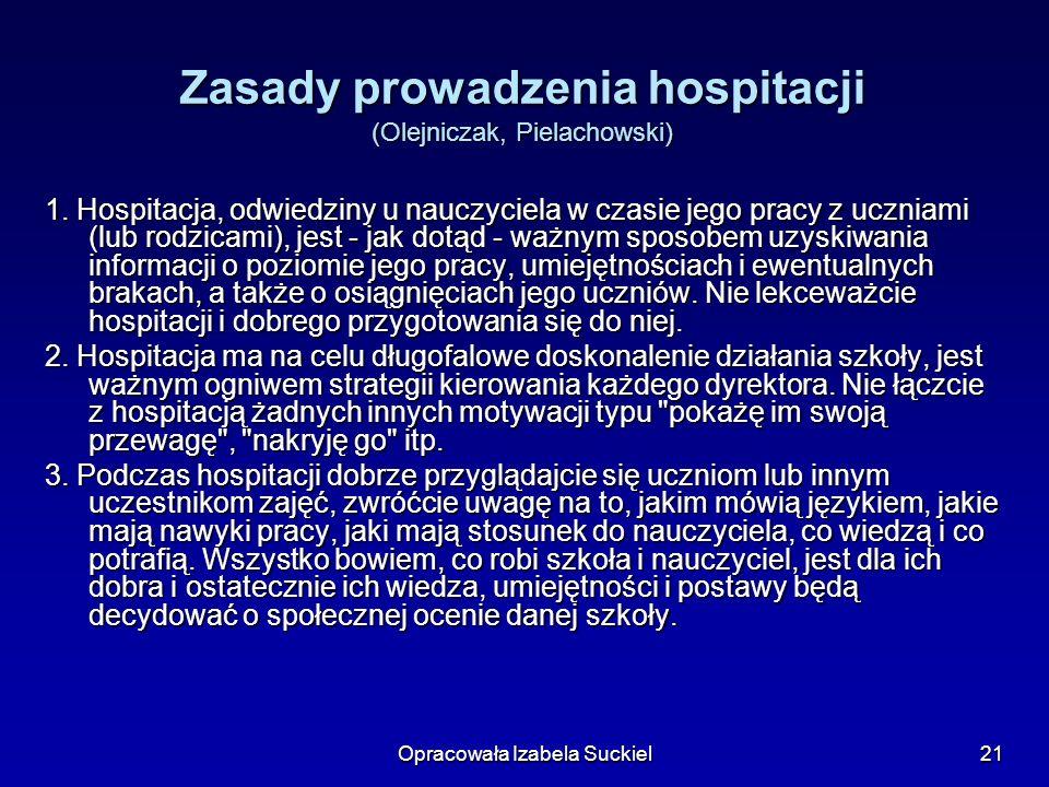 Zasady prowadzenia hospitacji (Olejniczak, Pielachowski)