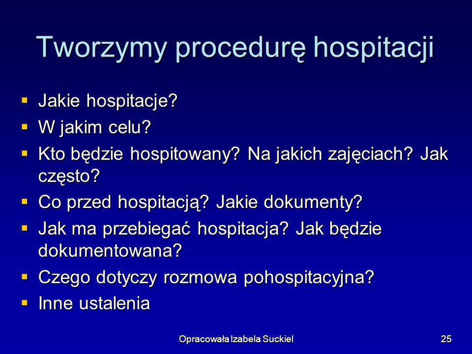 Tworzymy procedurę hospitacji