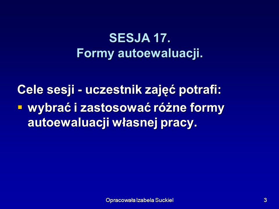 SESJA 17. Formy autoewaluacji.