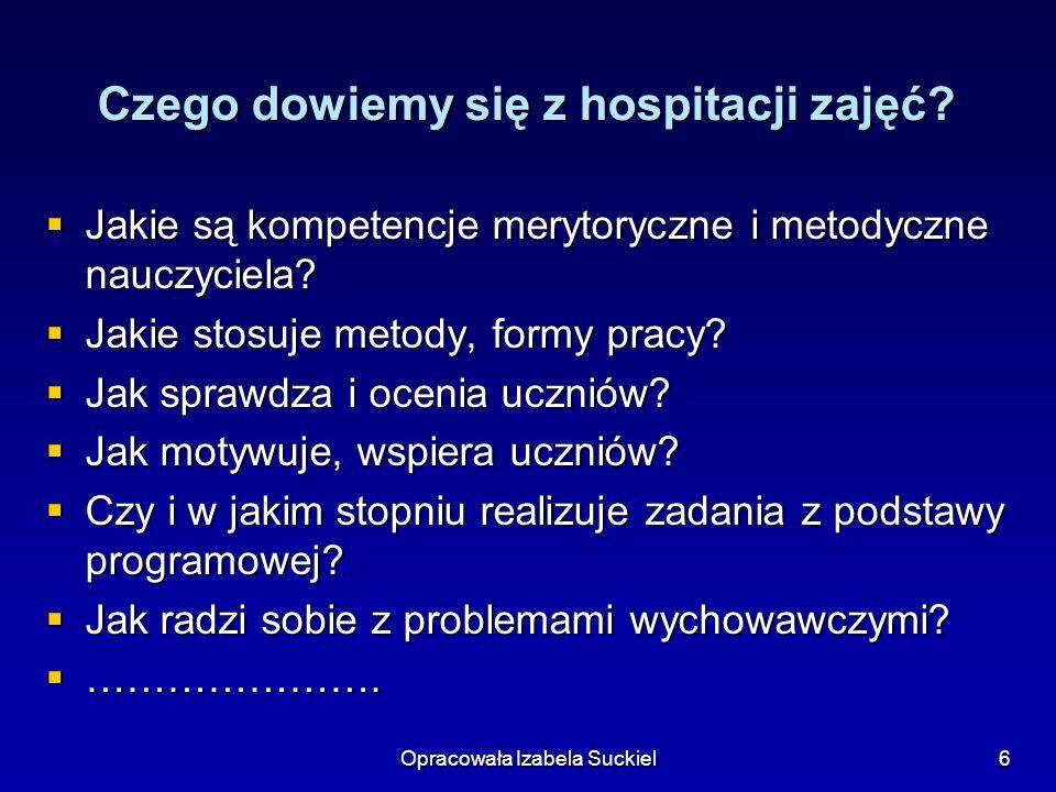 Czego dowiemy się z hospitacji zajęć