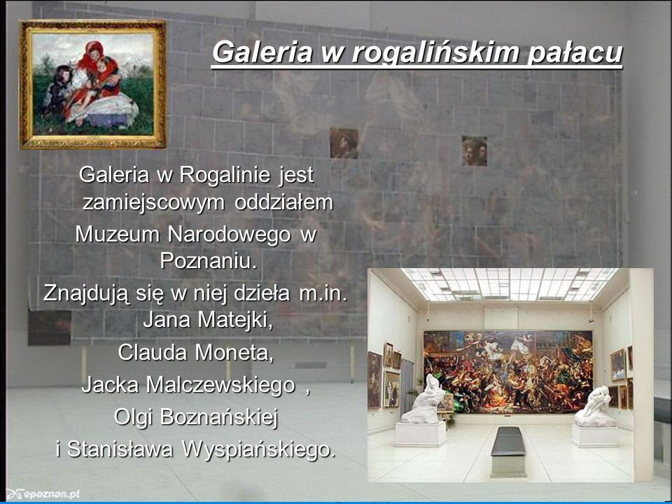 Galeria w rogalińskim pałacu