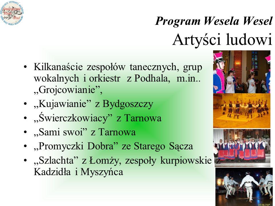 Program Wesela Wesel Artyści ludowi
