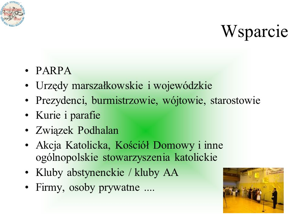 Wsparcie PARPA Urzędy marszałkowskie i wojewódzkie