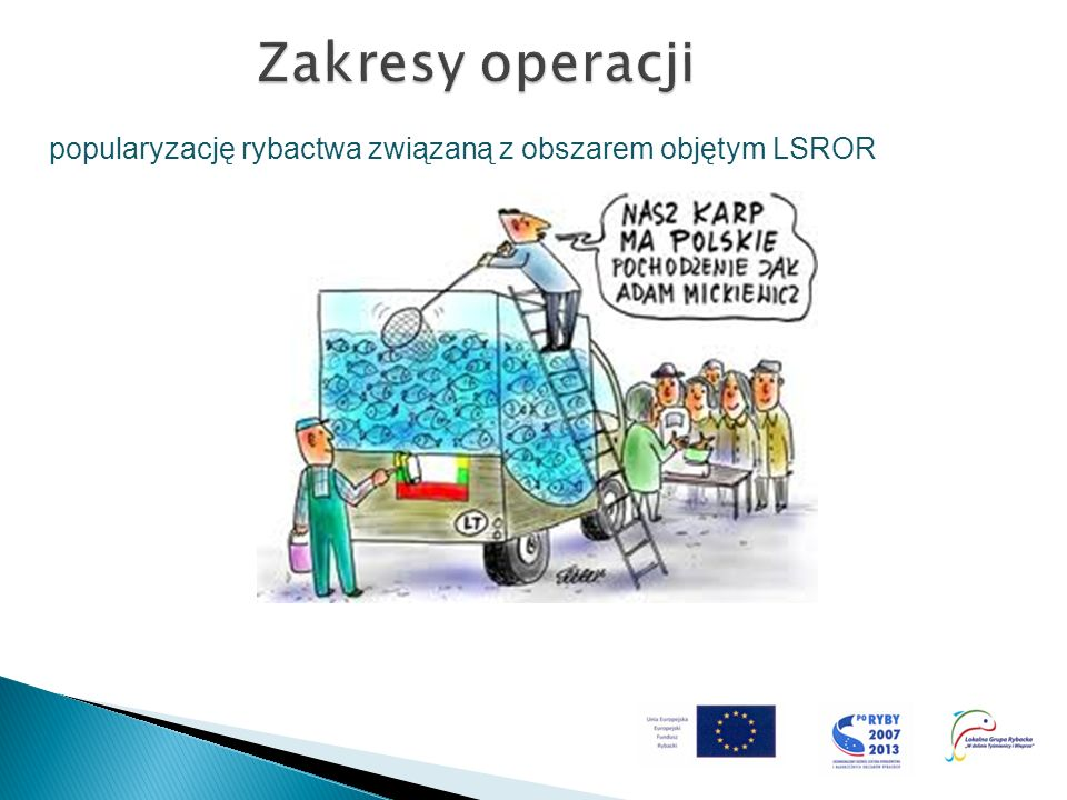 Zakresy operacji popularyzację rybactwa związaną z obszarem objętym LSROR
