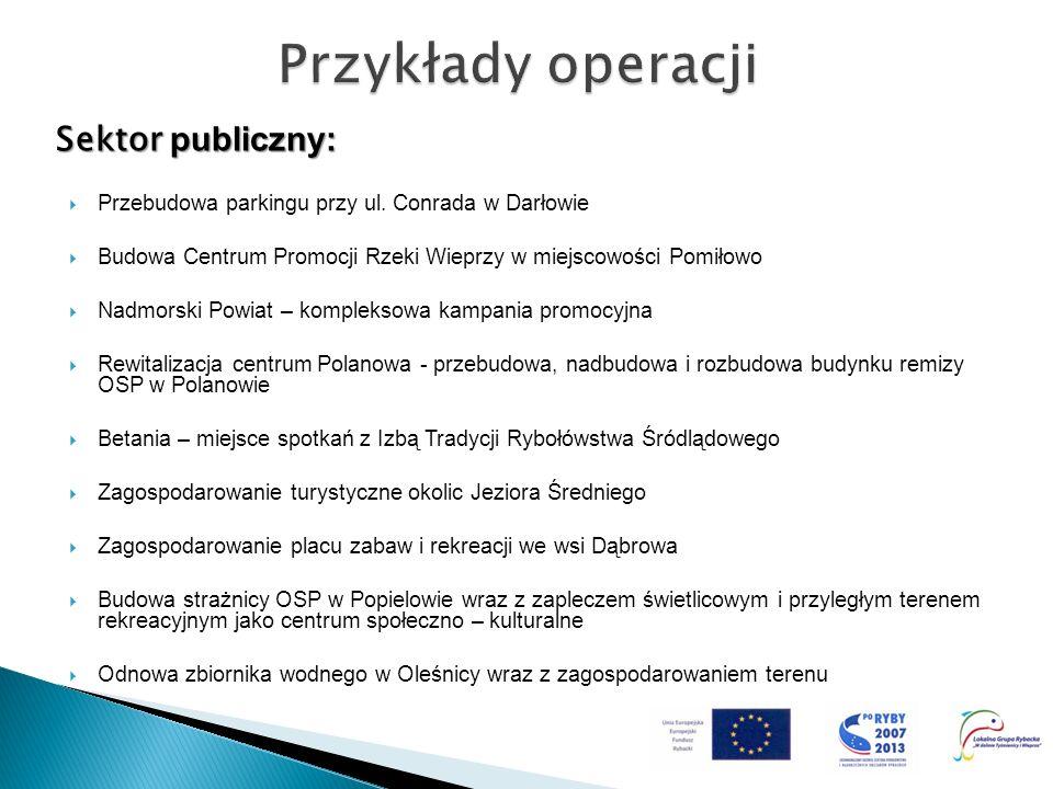 Przykłady operacji Sektor publiczny: