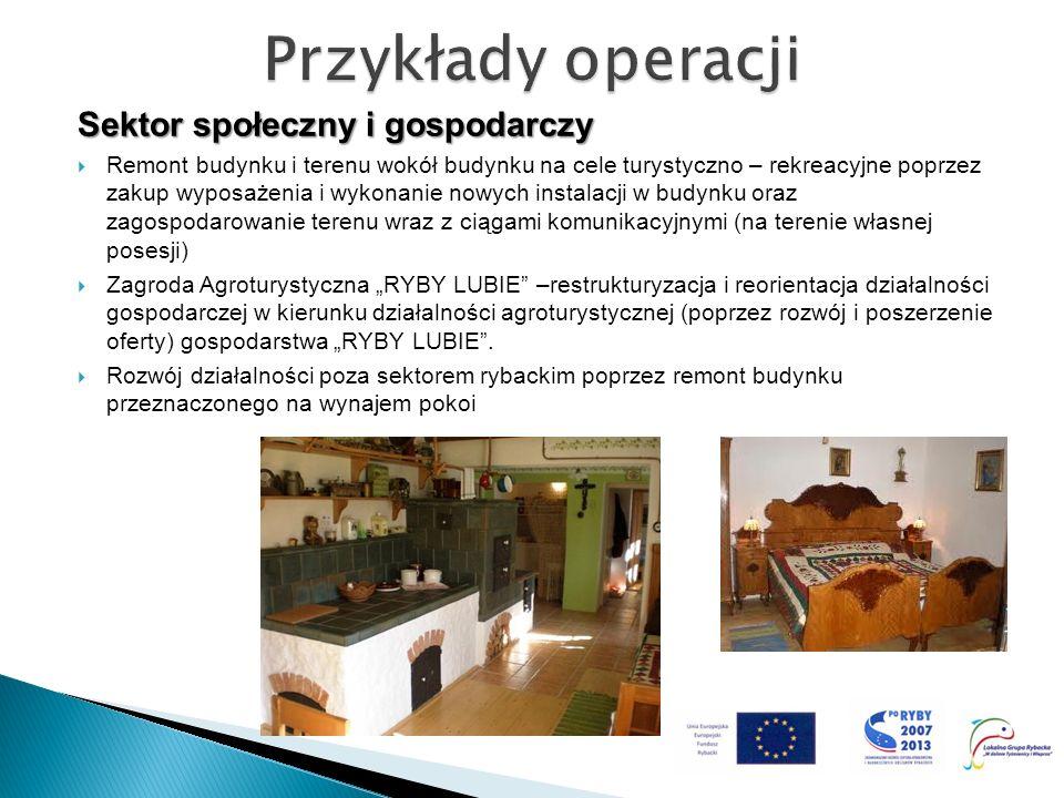 Przykłady operacji Sektor społeczny i gospodarczy