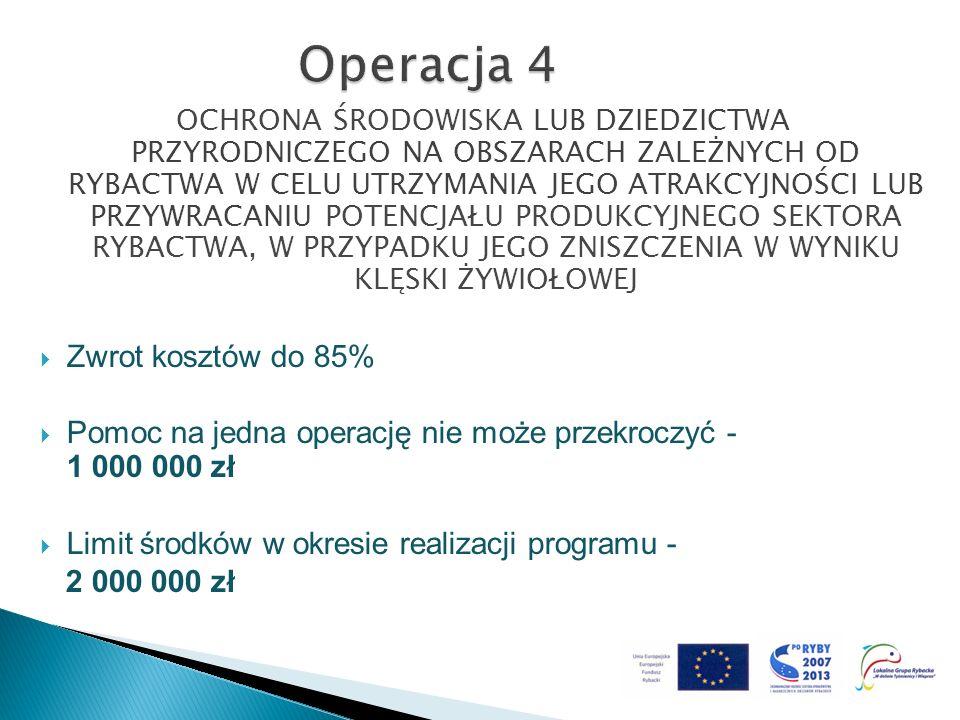 Operacja 4 Zwrot kosztów do 85%