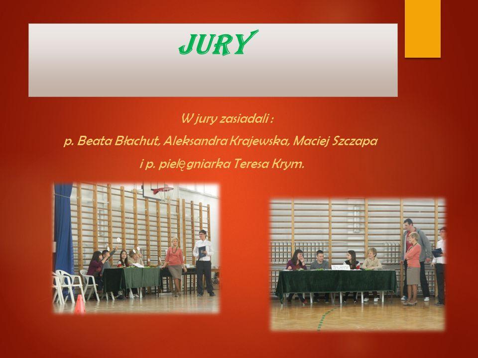 JURY W jury zasiadali : p. Beata Błachut, Aleksandra Krajewska, Maciej Szczapa i p.