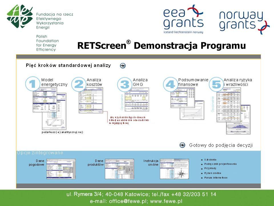 RETScreen® Demonstracja Programu