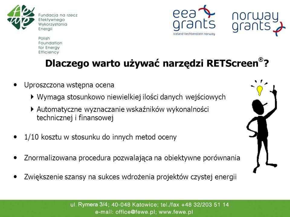 Dlaczego warto używać narzędzi RETScreen®