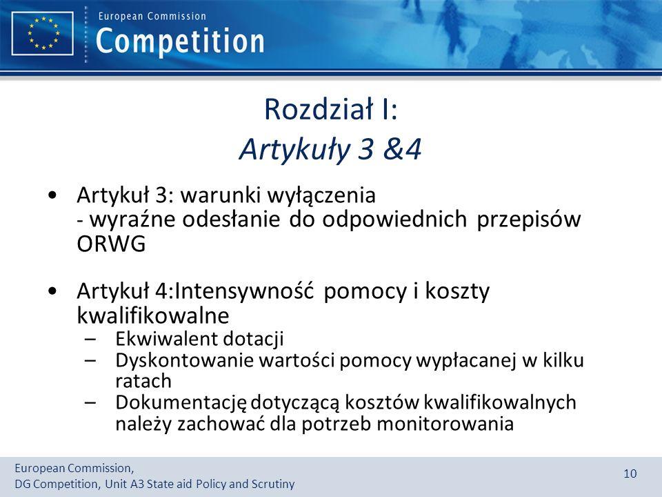 Rozdział I: Artykuły 3 &4 Artykuł 3: warunki wyłączenia