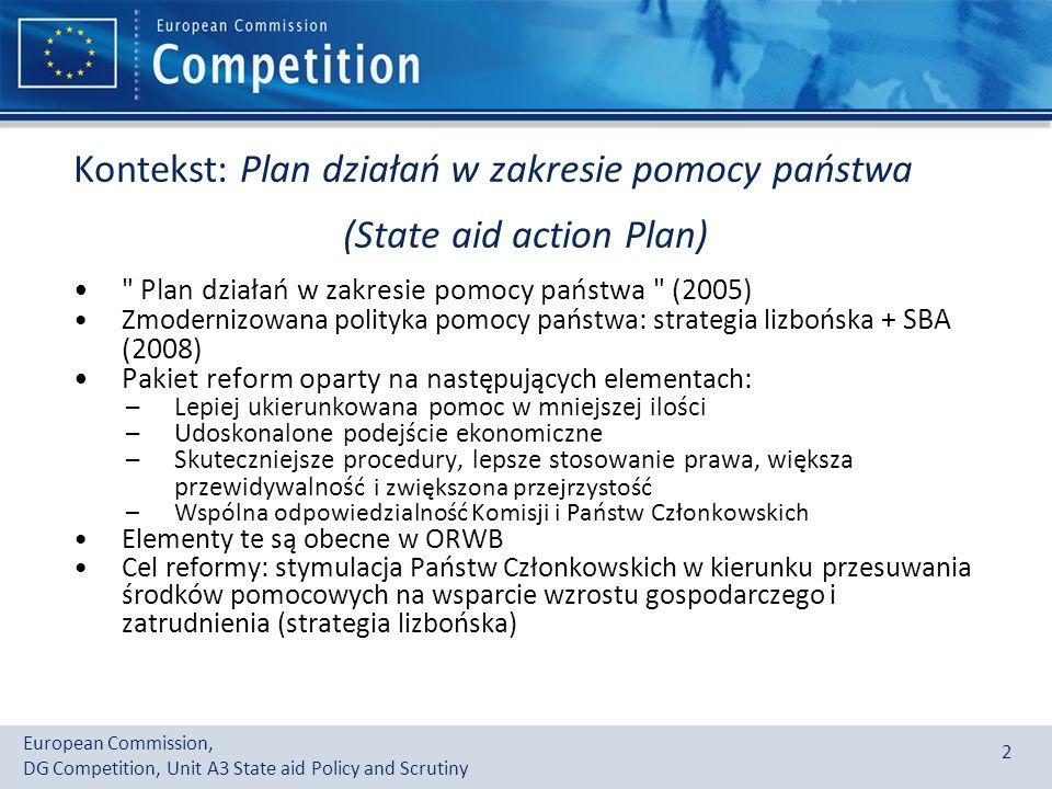 Kontekst: Plan działań w zakresie pomocy państwa (State aid action Plan)