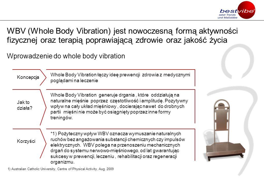 WBV (Whole Body Vibration) jest nowoczesną formą aktywności fizycznej oraz terapią poprawiającą zdrowie oraz jakość życia Wprowadzenie do whole body vibration