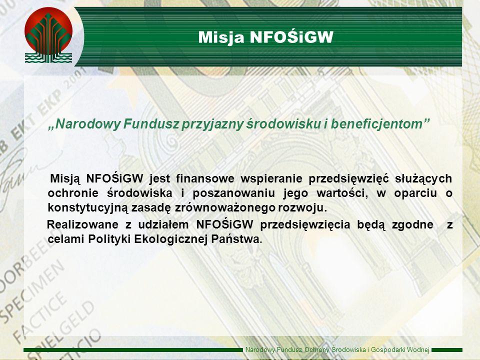 """Misja NFOŚiGW """"Narodowy Fundusz przyjazny środowisku i beneficjentom"""