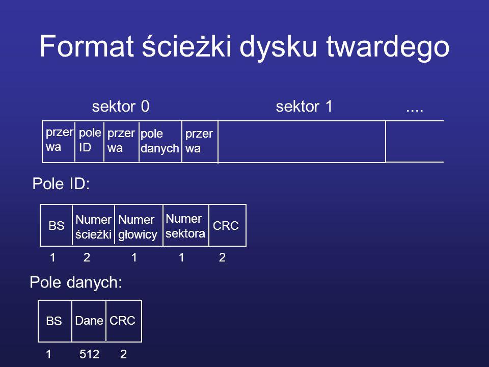 Format ścieżki dysku twardego