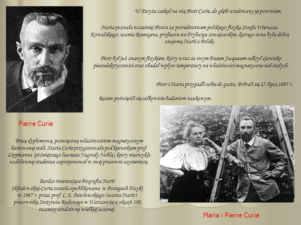 Pierre Curie Maria i Pierre Curie