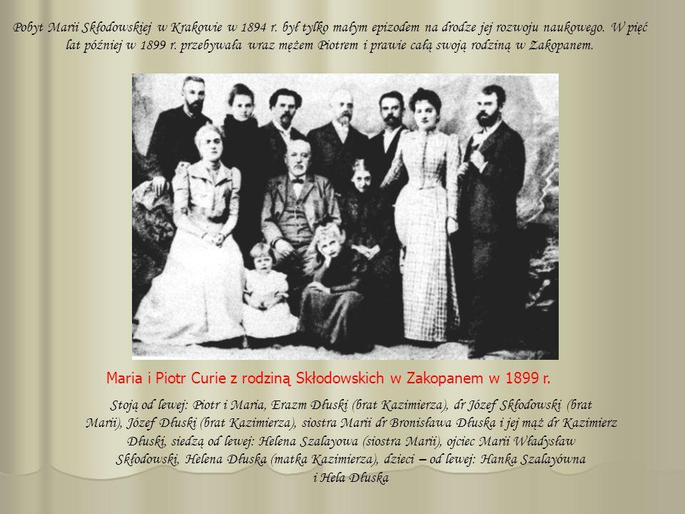 Pobyt Marii Skłodowskiej w Krakowie w 1894 r