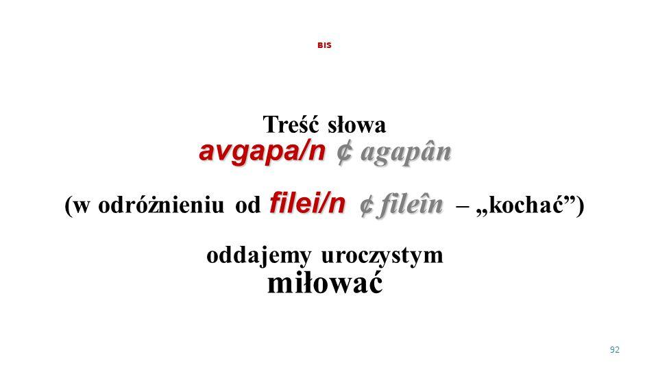 """(w odróżnieniu od filei/n ¢ fileîn – """"kochać )"""