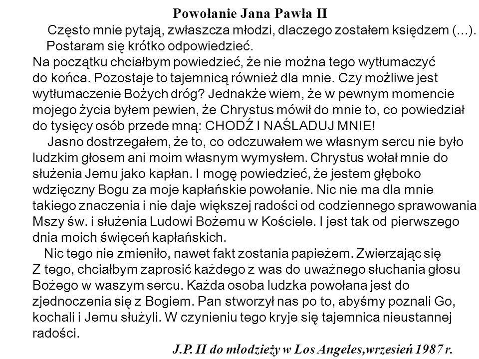 Powołanie Jana Pawła II