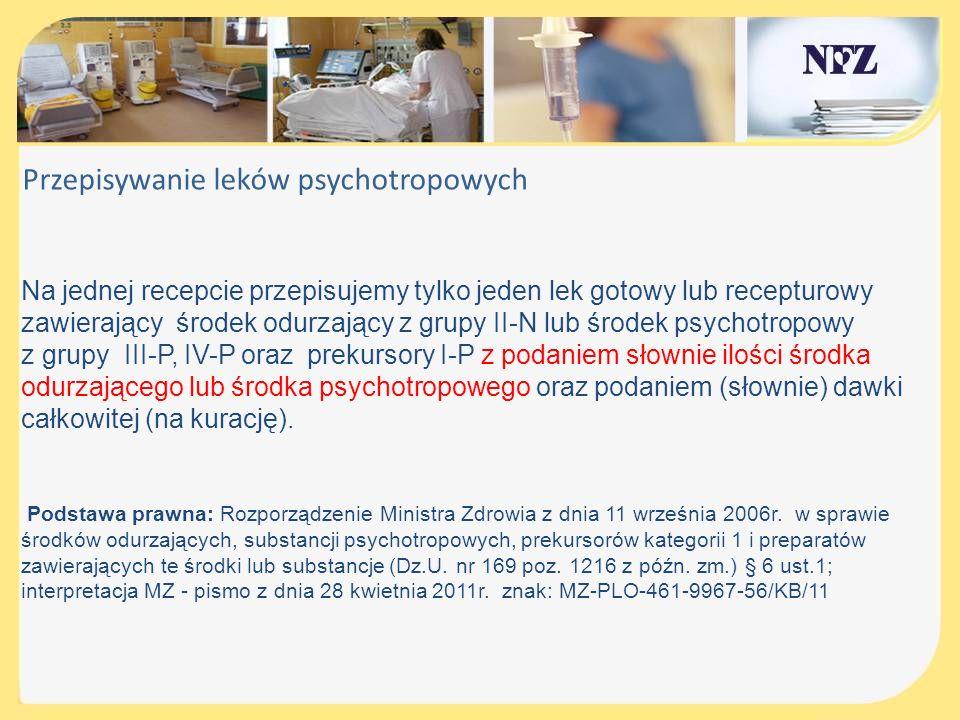 Przepisywanie leków psychotropowych
