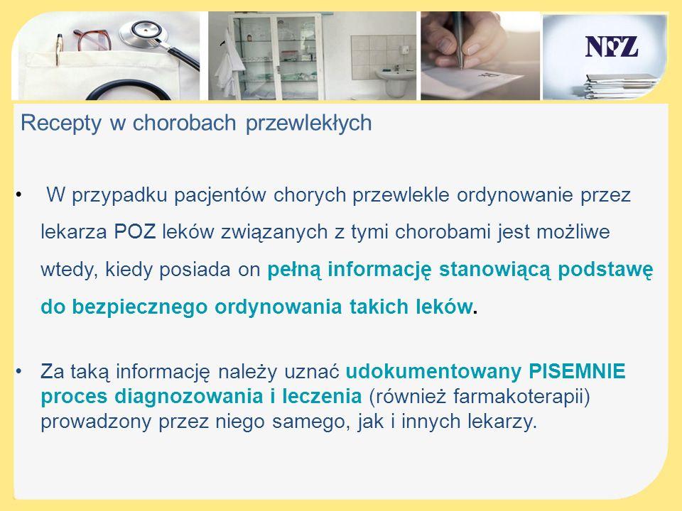 Recepty w chorobach przewlekłych