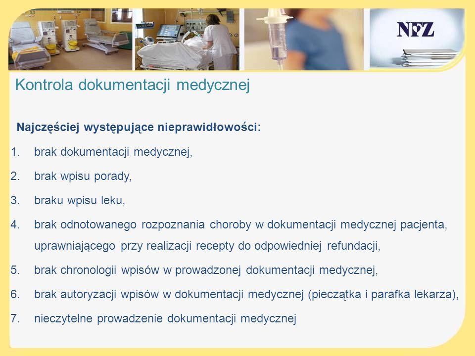 Kontrola dokumentacji medycznej