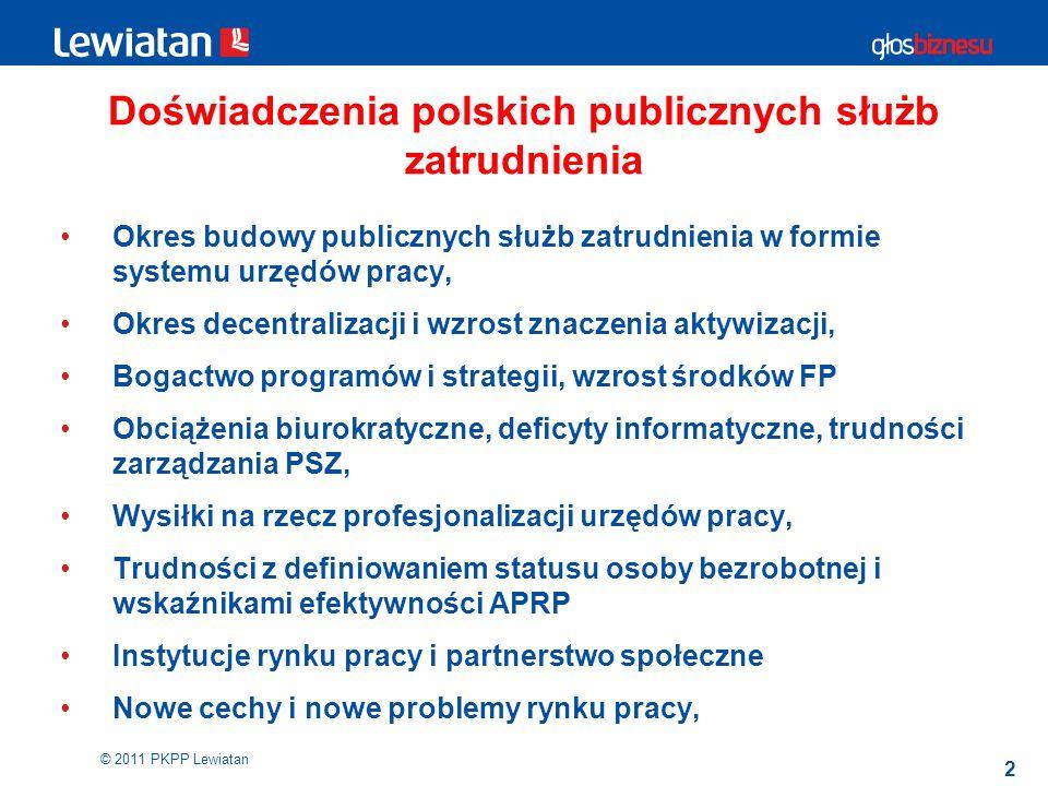 Doświadczenia polskich publicznych służb zatrudnienia