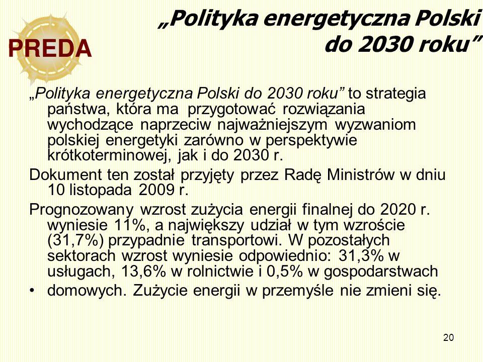 """""""Polityka energetyczna Polski do 2030 roku"""