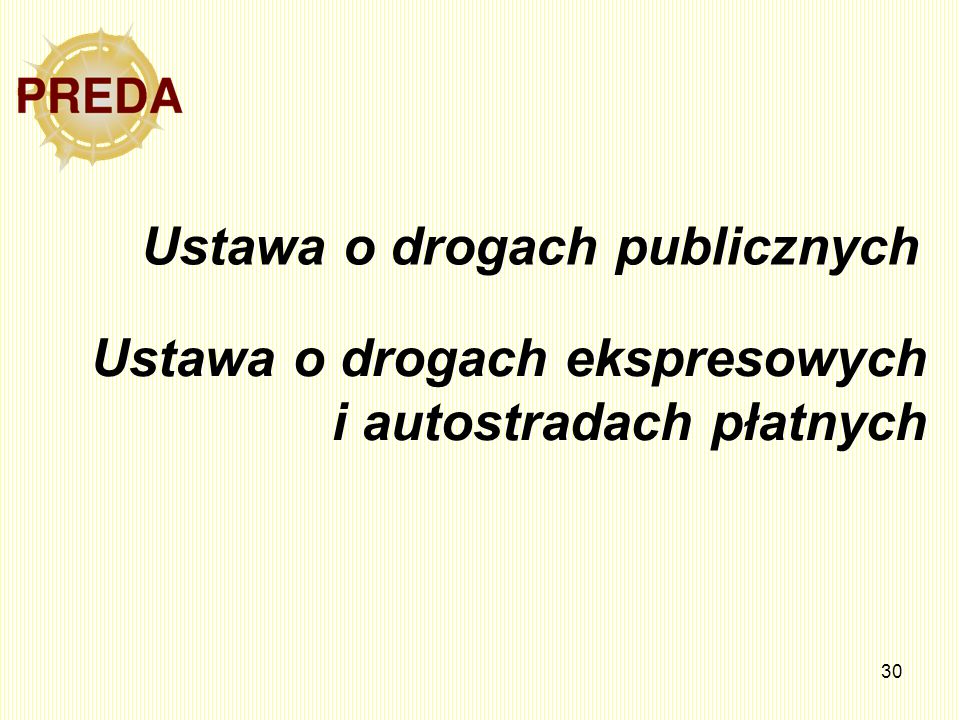 Ustawa o drogach publicznych