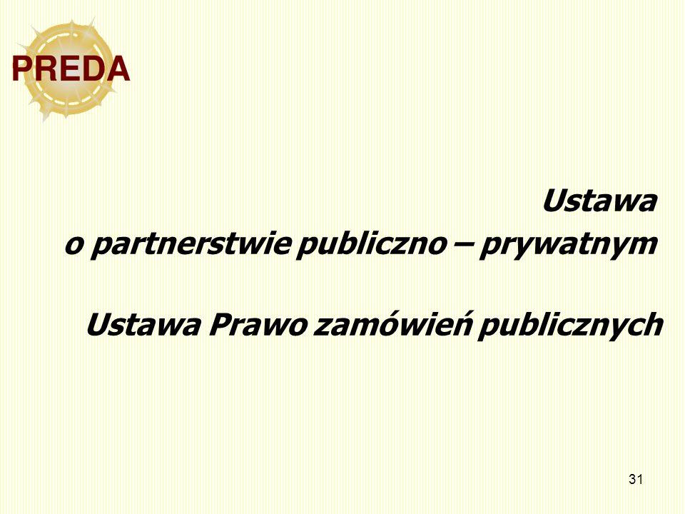 Ustawa o partnerstwie publiczno – prywatnym