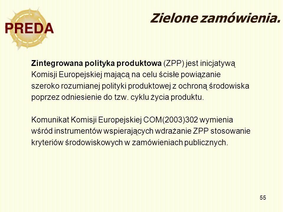Zielone zamówienia.Zintegrowana polityka produktowa (ZPP) jest inicjatywą. Komisji Europejskiej mającą na celu ścisłe powiązanie.