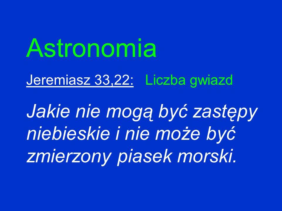 Astronomia Jeremiasz 33,22: Liczba gwiazd.