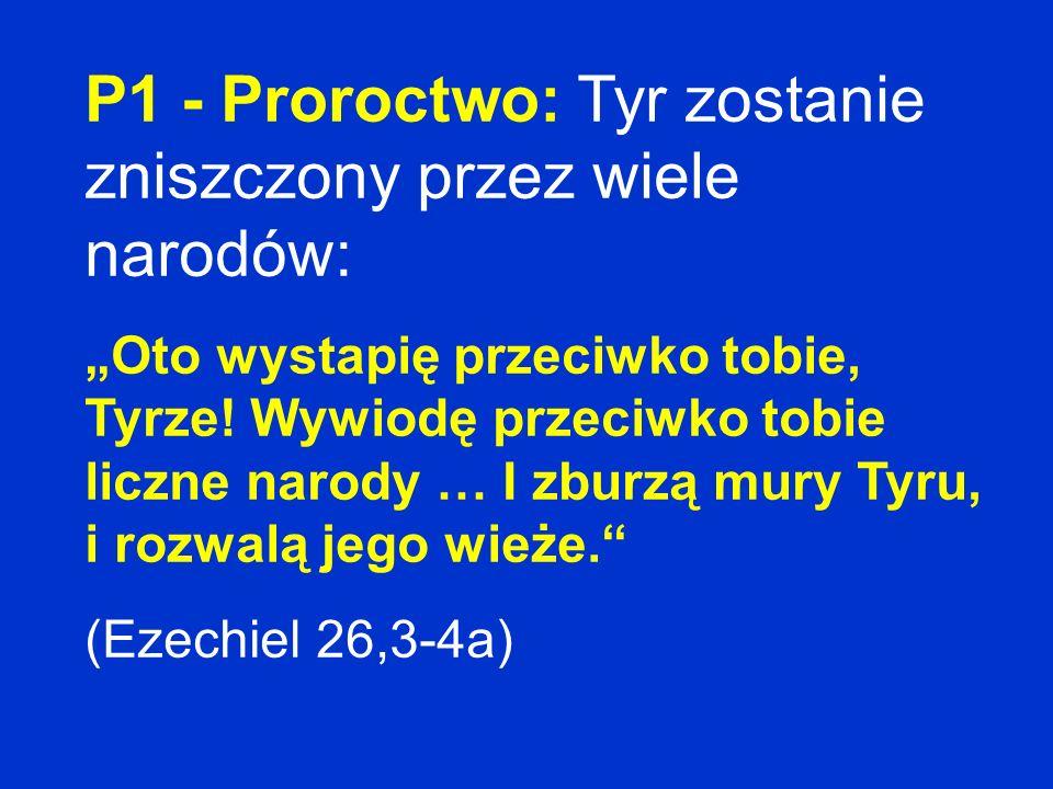 P1 - Proroctwo: Tyr zostanie zniszczony przez wiele narodów: