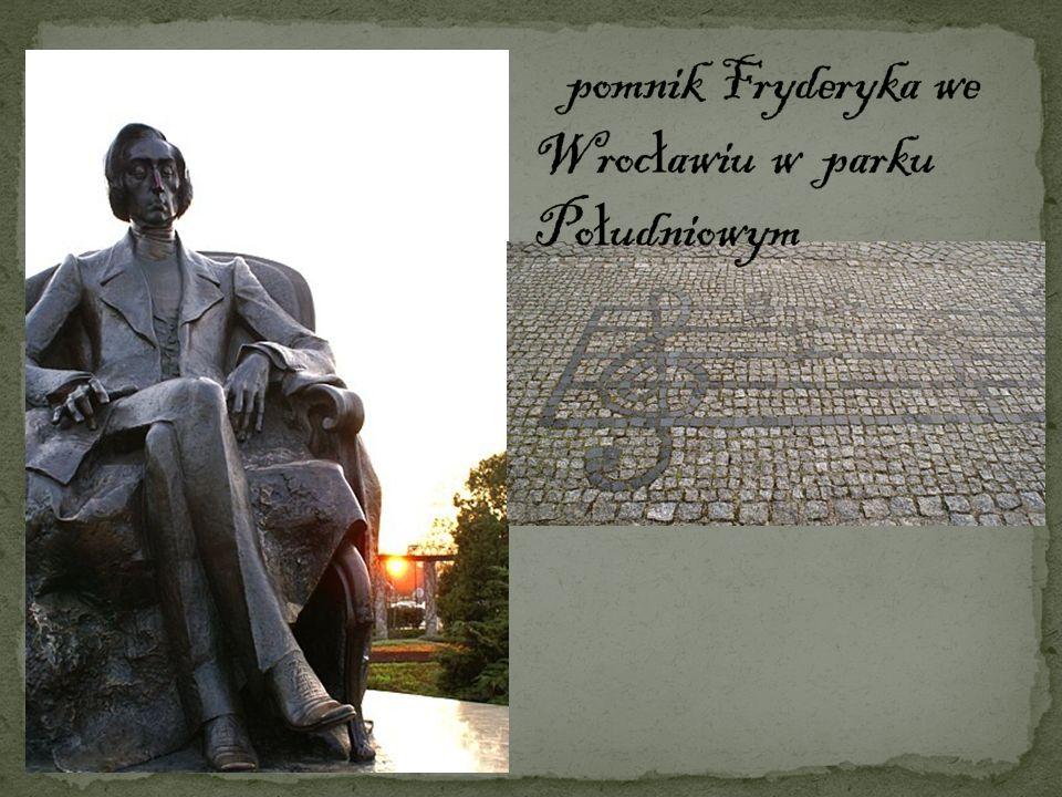pomnik Fryderyka we Wrocławiu w parku Południowym