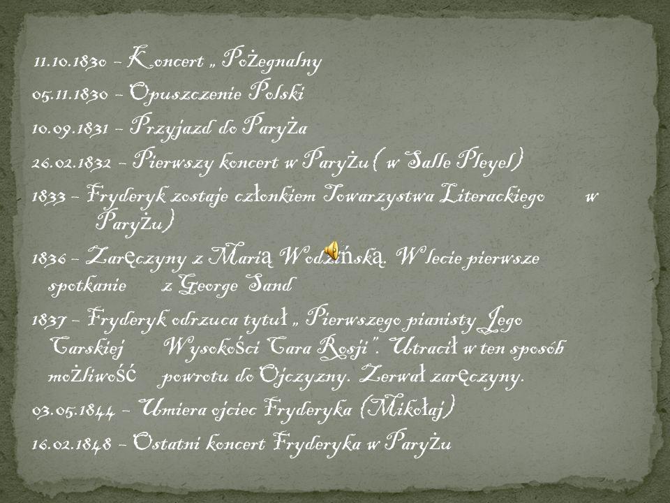 "11.10.183o – Koncert "" Pożegnalny"