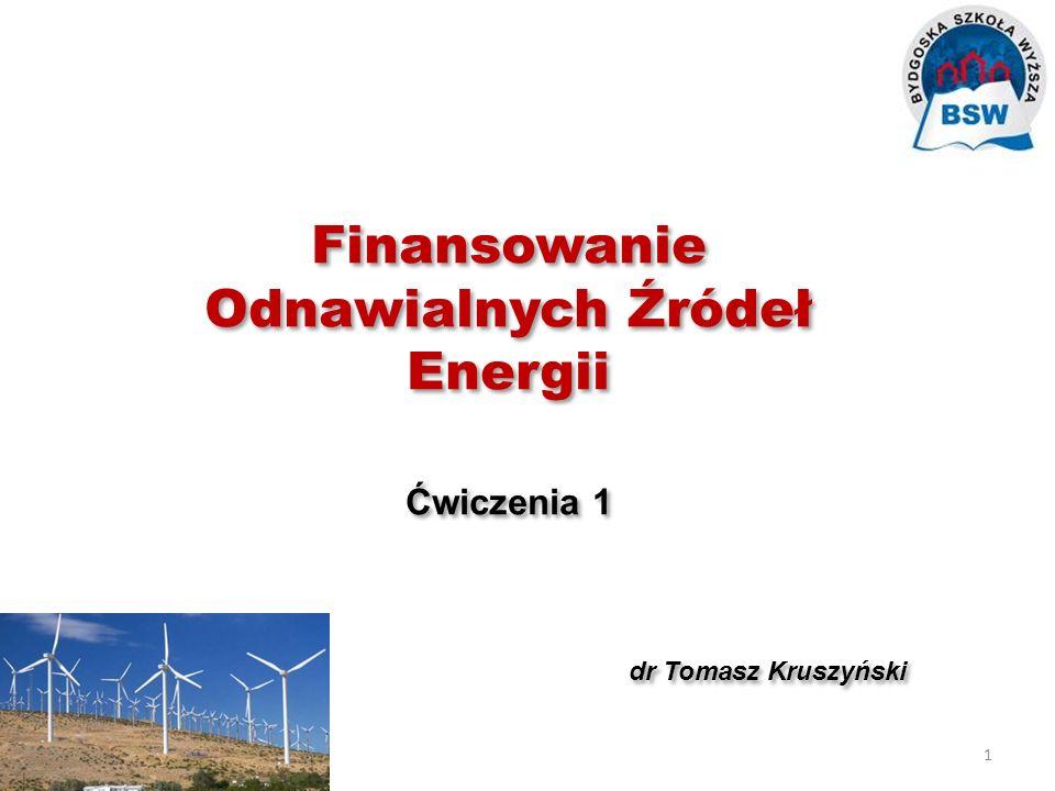 Finansowanie Odnawialnych Źródeł Energii