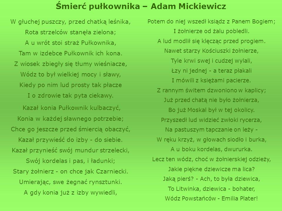 Śmierć pułkownika – Adam Mickiewicz
