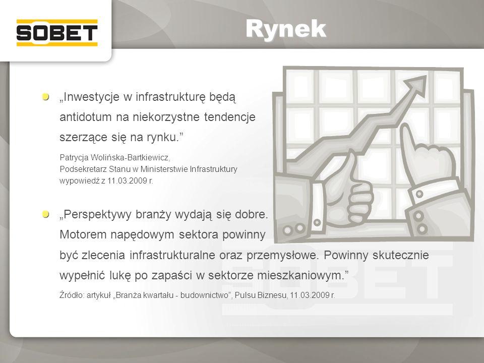 """Rynek """"Inwestycje w infrastrukturę będą antidotum na niekorzystne tendencje szerzące się na rynku."""