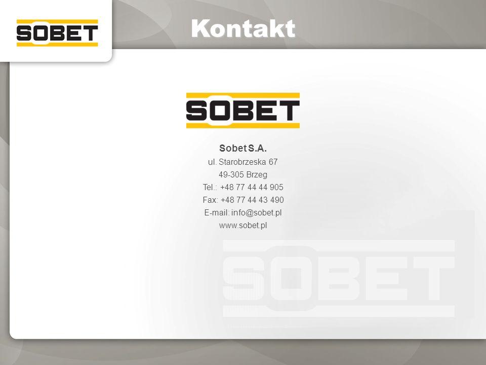 Kontakt Sobet S.A. ul. Starobrzeska 67 49-305 Brzeg