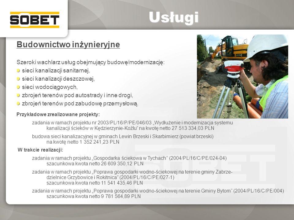 Usługi Budownictwo inżynieryjne