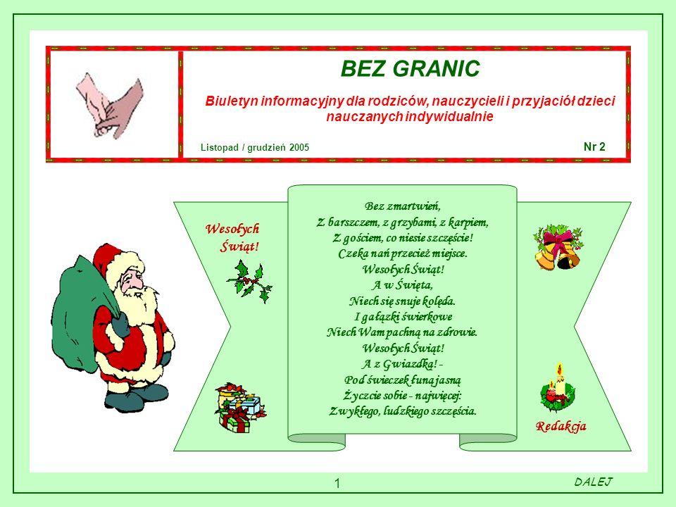 BEZ GRANIC Wesołych Świąt! Redakcja