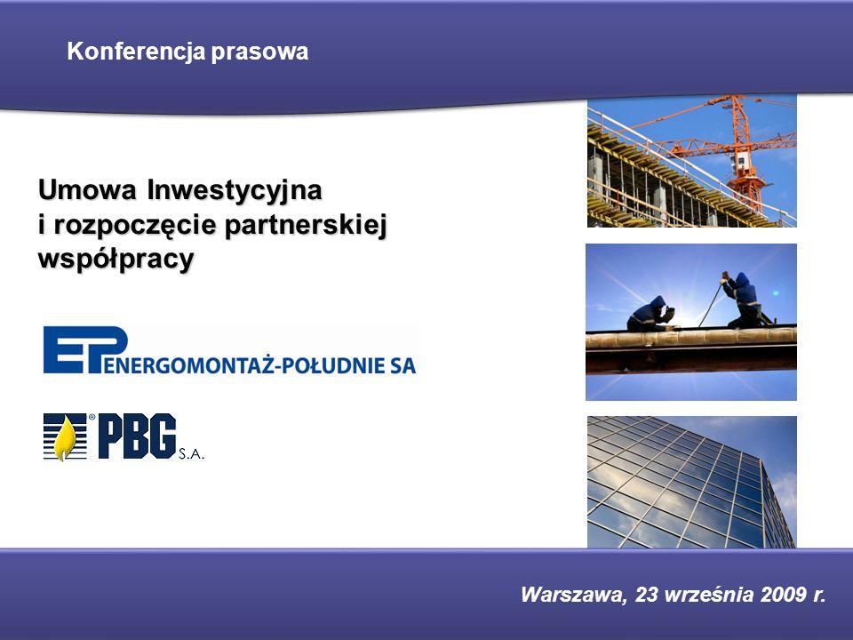 Umowa Inwestycyjna i rozpoczęcie partnerskiej współpracy
