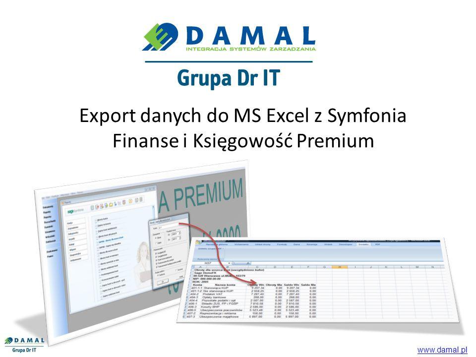 Export danych do MS Excel z Symfonia Finanse i Księgowość Premium