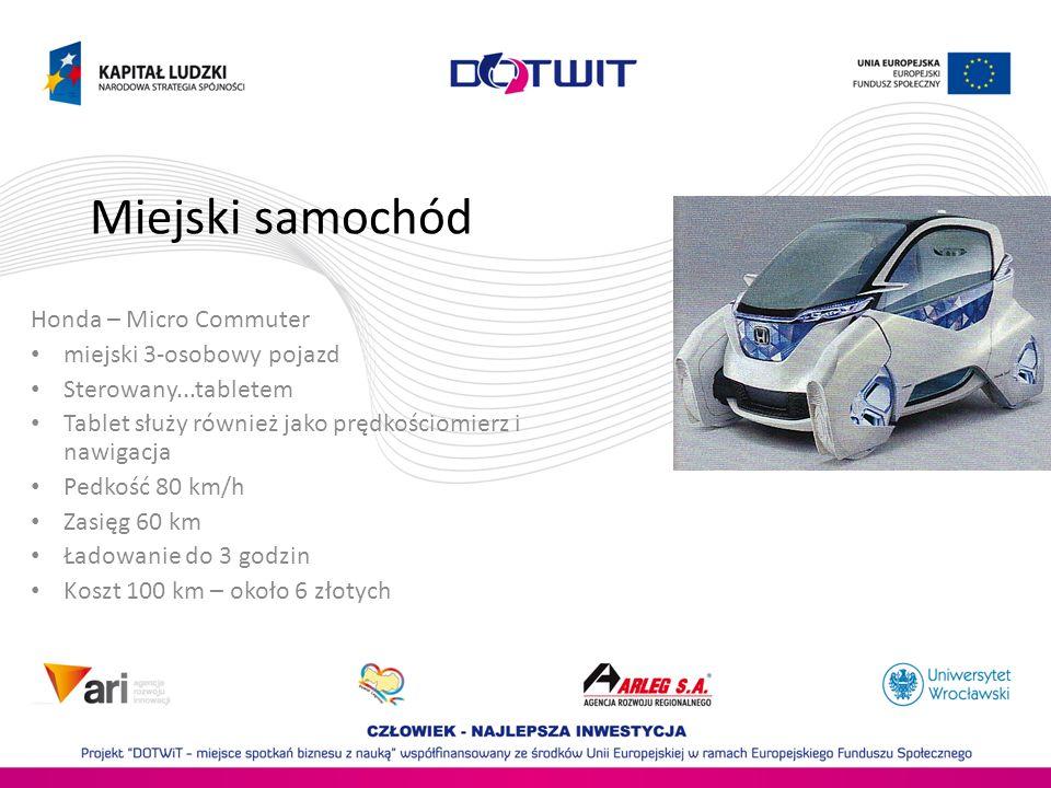 Miejski samochód Honda – Micro Commuter miejski 3-osobowy pojazd