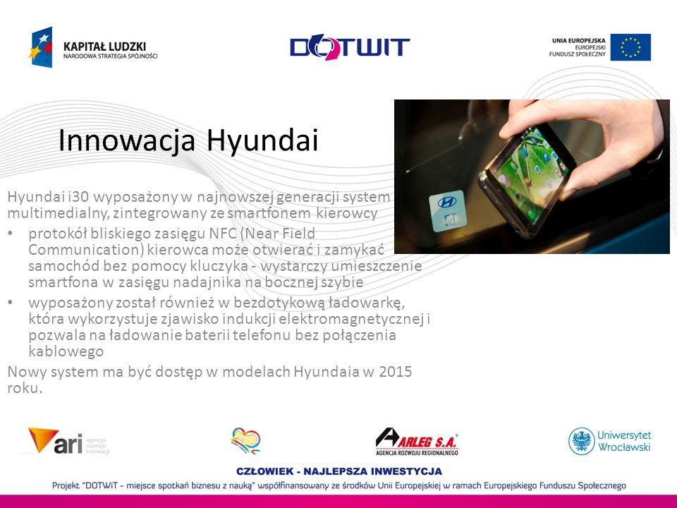 Innowacja Hyundai Hyundai i30 wyposażony w najnowszej generacji system multimedialny, zintegrowany ze smartfonem kierowcy.