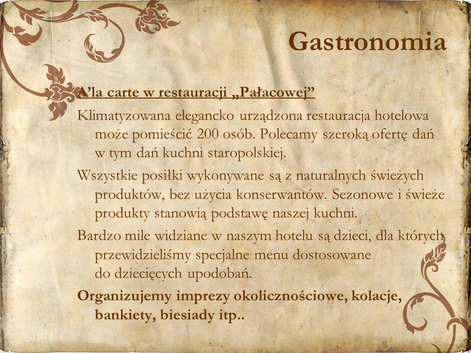 """Gastronomia A'la carte w restauracji """"Pałacowej"""
