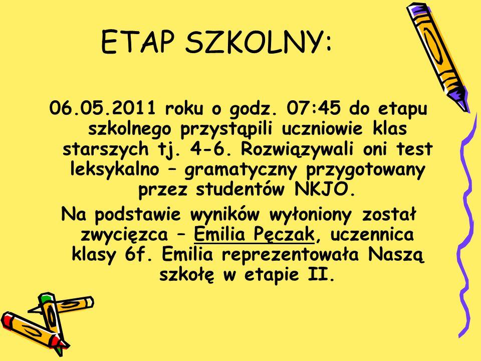ETAP SZKOLNY: